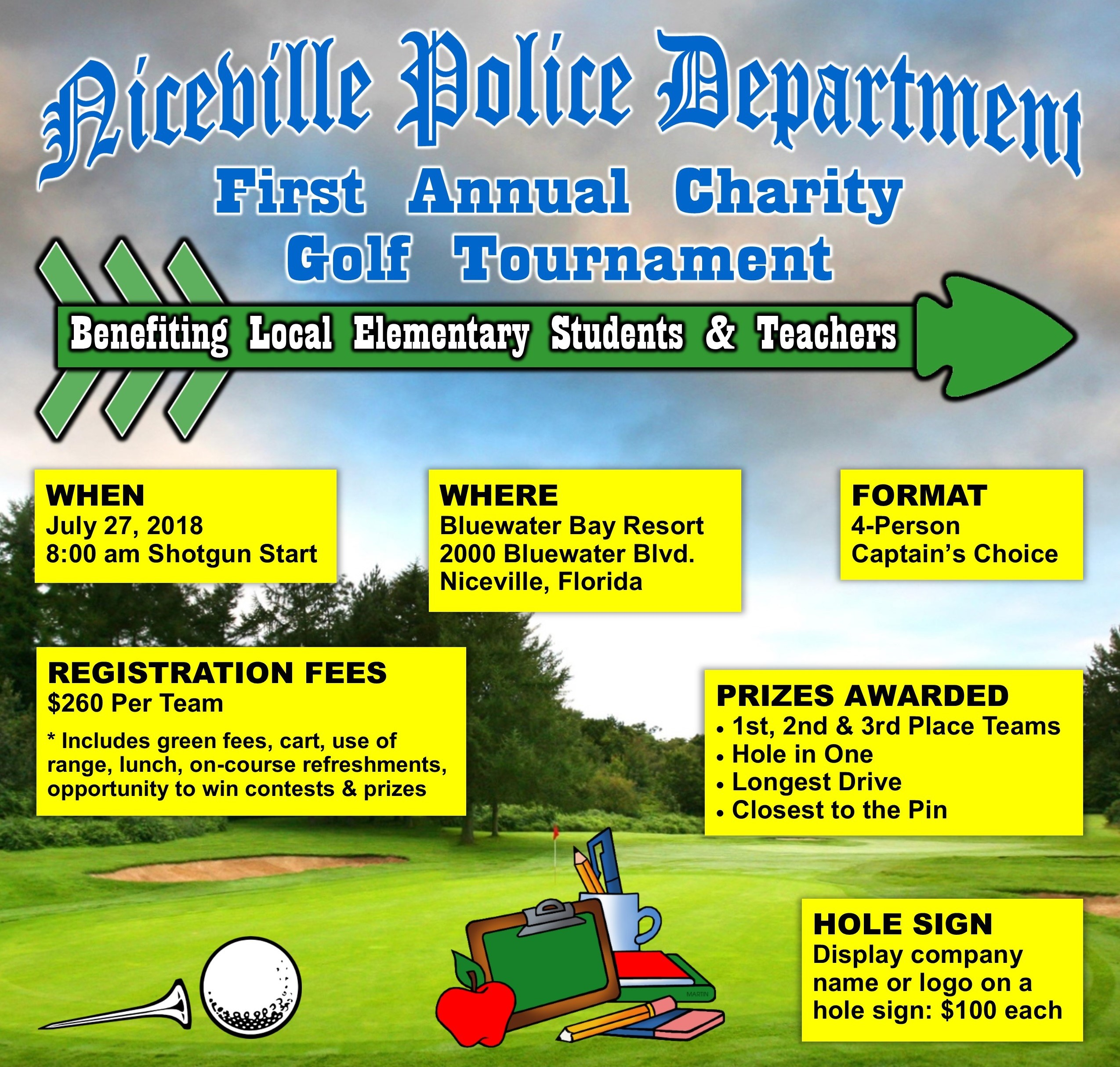 Niceville Police Dept 1st Annual Golf Tournament