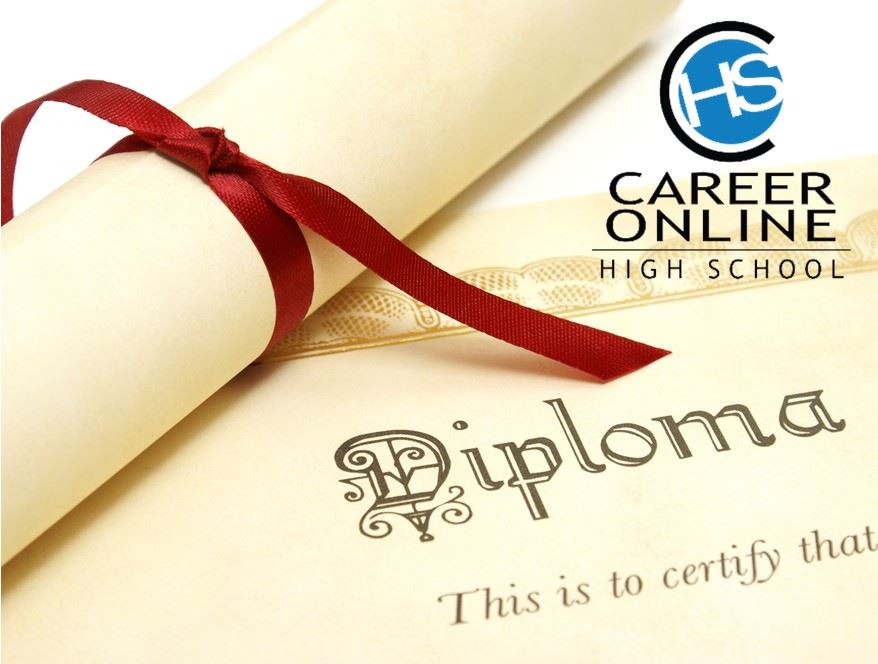 Career Online High School logo with diploma