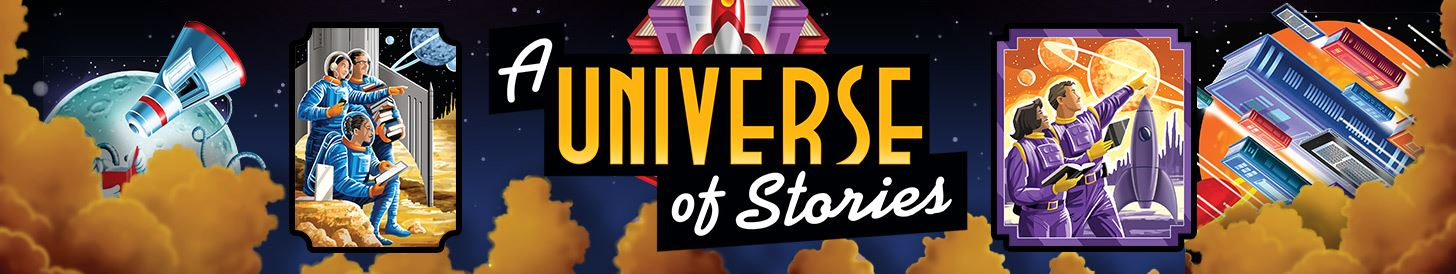 Universe of Stories Summer Reading Logo for Adult Programs