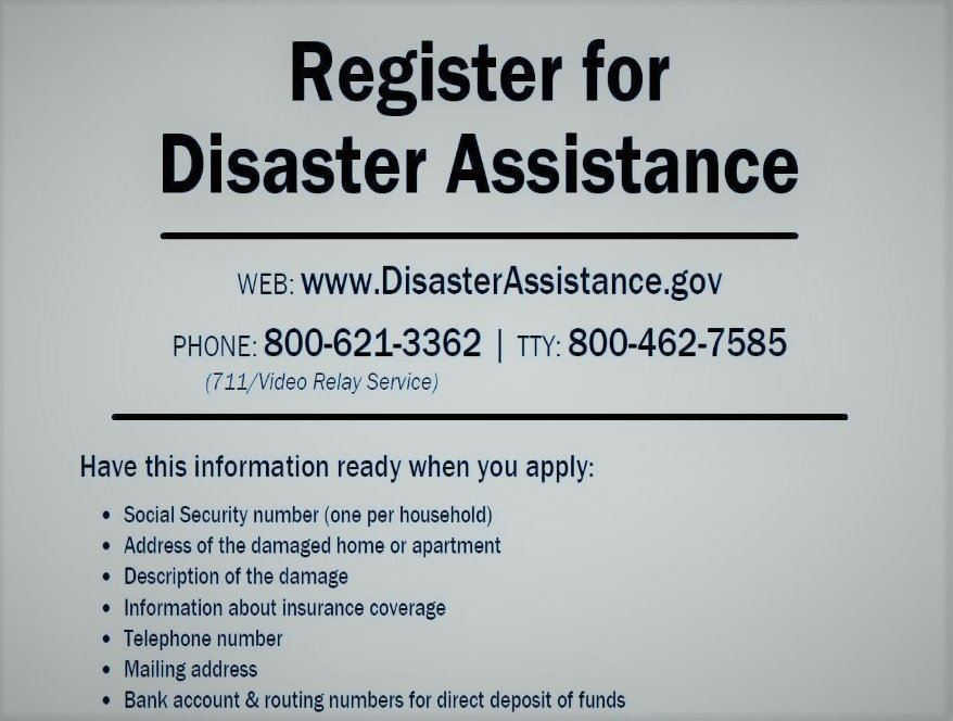 register for disaster assistance