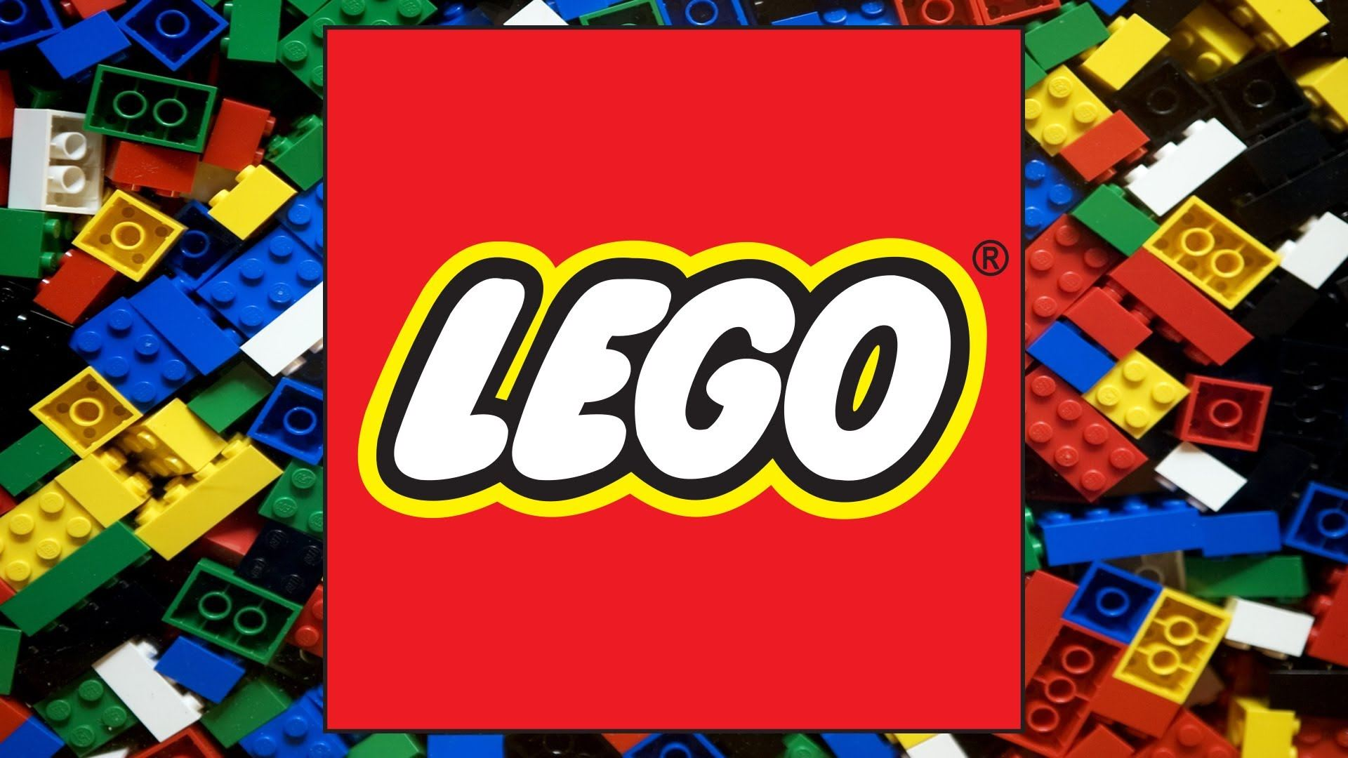 LEGO logo and LEGO blocks