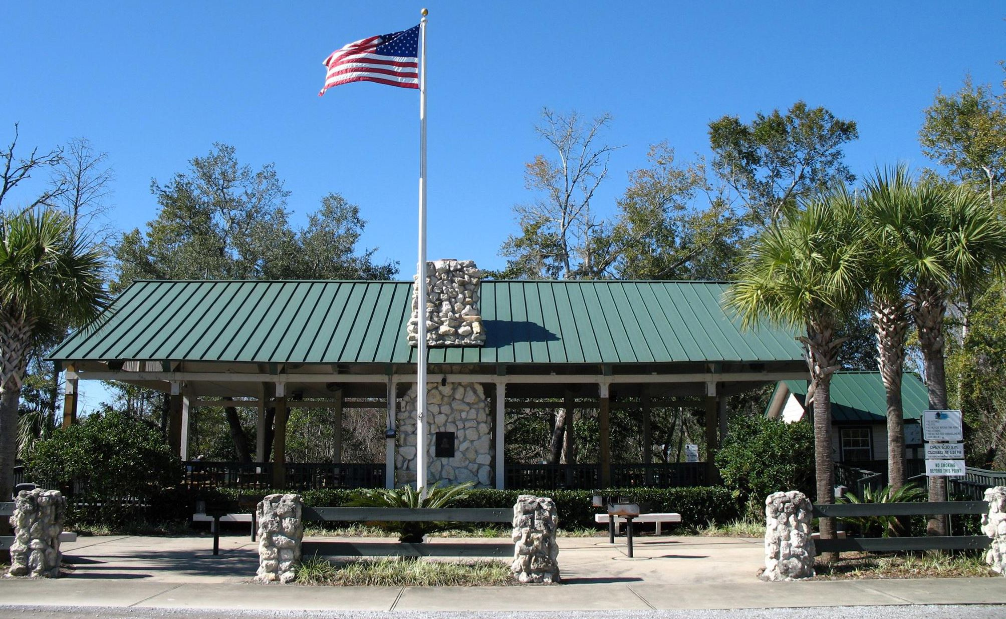 The pavilion located at Turkey Creek Park