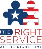 The Right Service at the Right Time logo Opens in new window